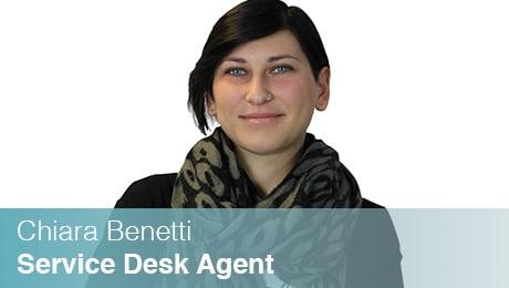 Team Sinesy | Chiara Benetti | Service Desk Agent