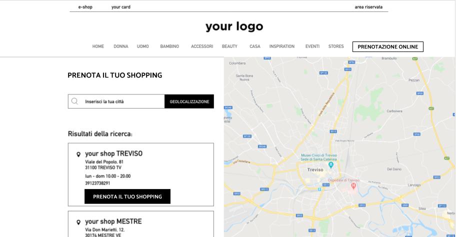prenotazione online negozio